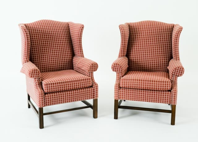 Superieur Pair Of Ethan Allen Wingback Chairs ...