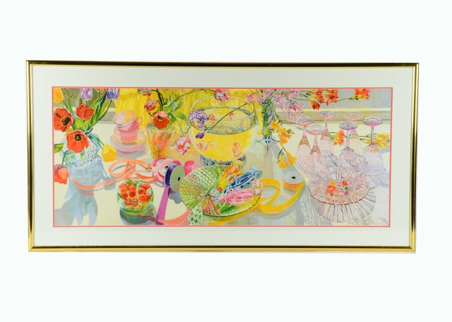 Framed Print Of Janet Fish S Quot Spring Party Quot Ebth