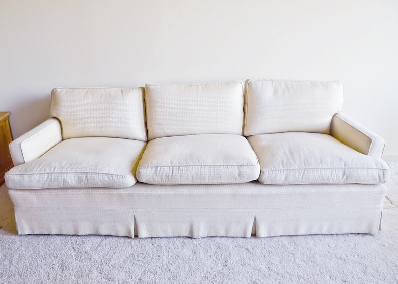 Off White Goose Down Filled Sofa By Joseph Giannola ...