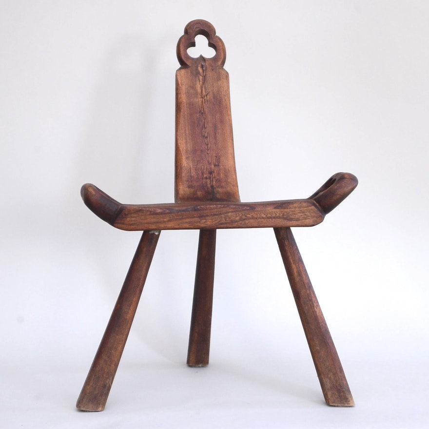 Antique Primitive Birthing Stool ... - Antique Primitive Birthing Stool : EBTH