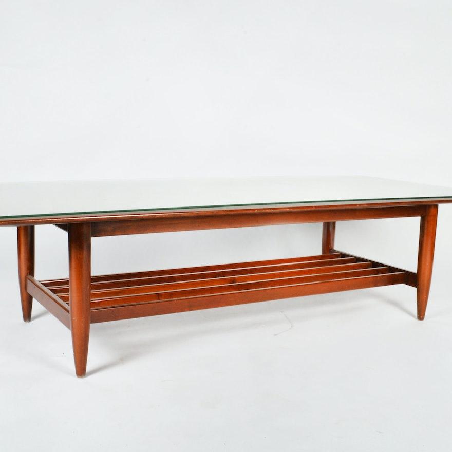 Mid Century Modern Cherry Coffee Table Ebth