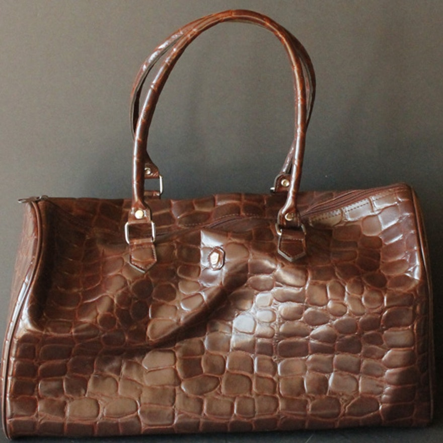 f6316a403e Faux Alligator Skin Weekender Bag and Brighton Wallet : EBTH