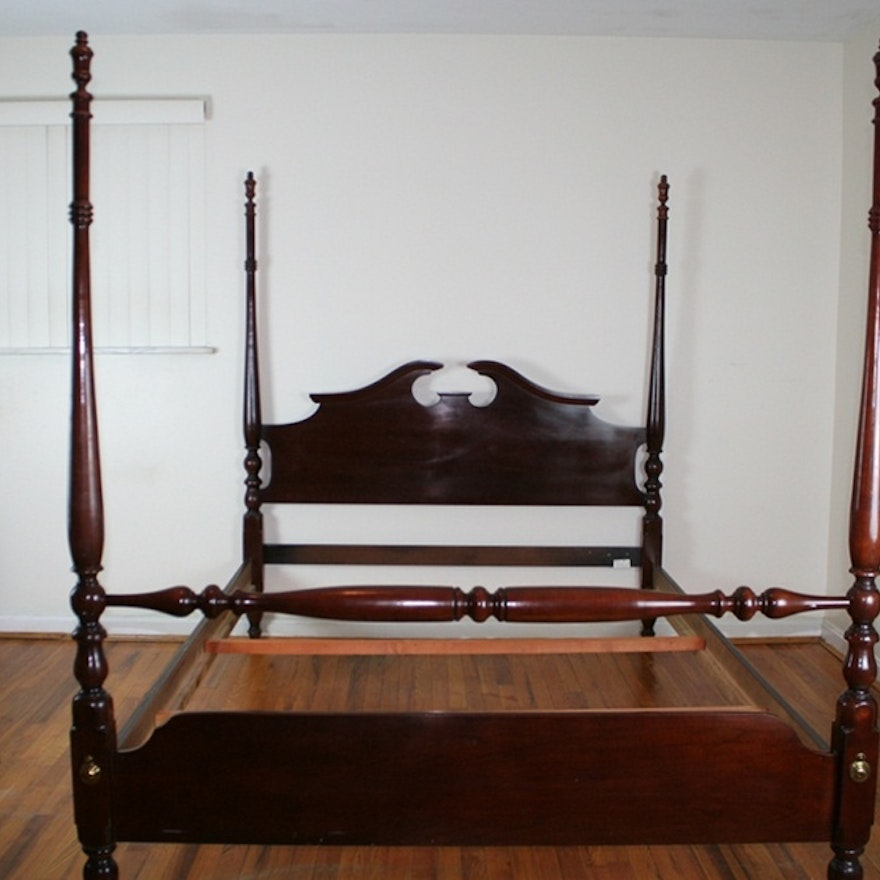 Thomasville Four Poster Cherry Bed (Oueen Size) : EBTH