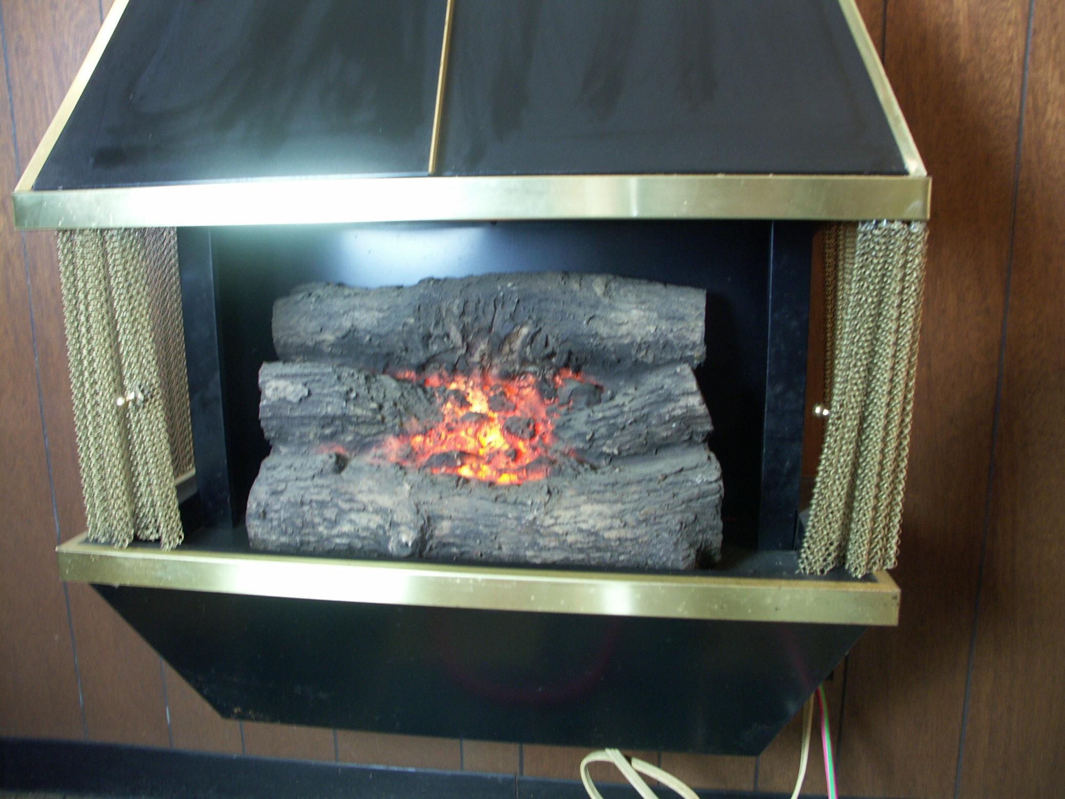 retro dyna flame electric fireplace ebth