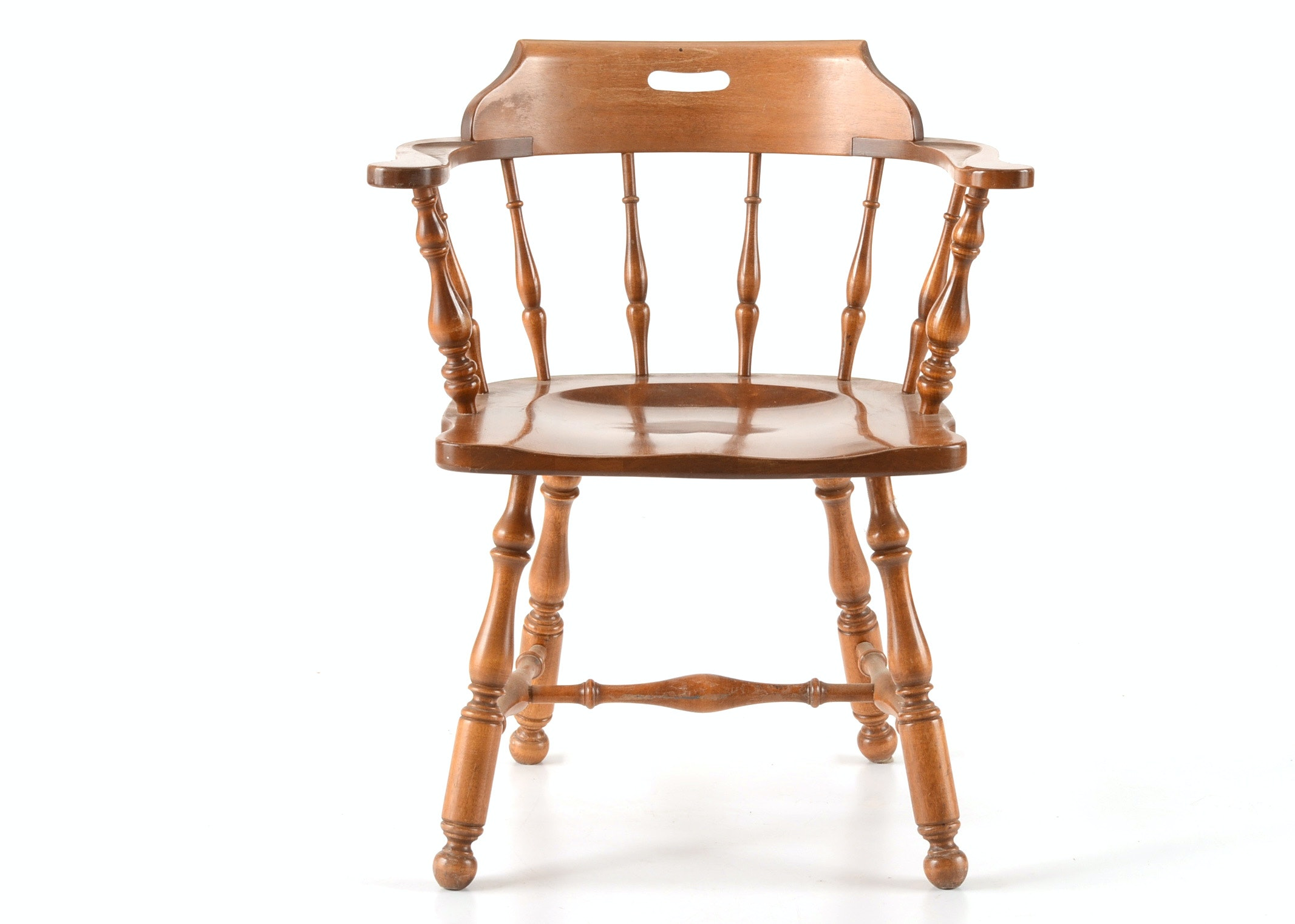 Etonnant Low Back Windsor Style Captainu0027s Chair ...