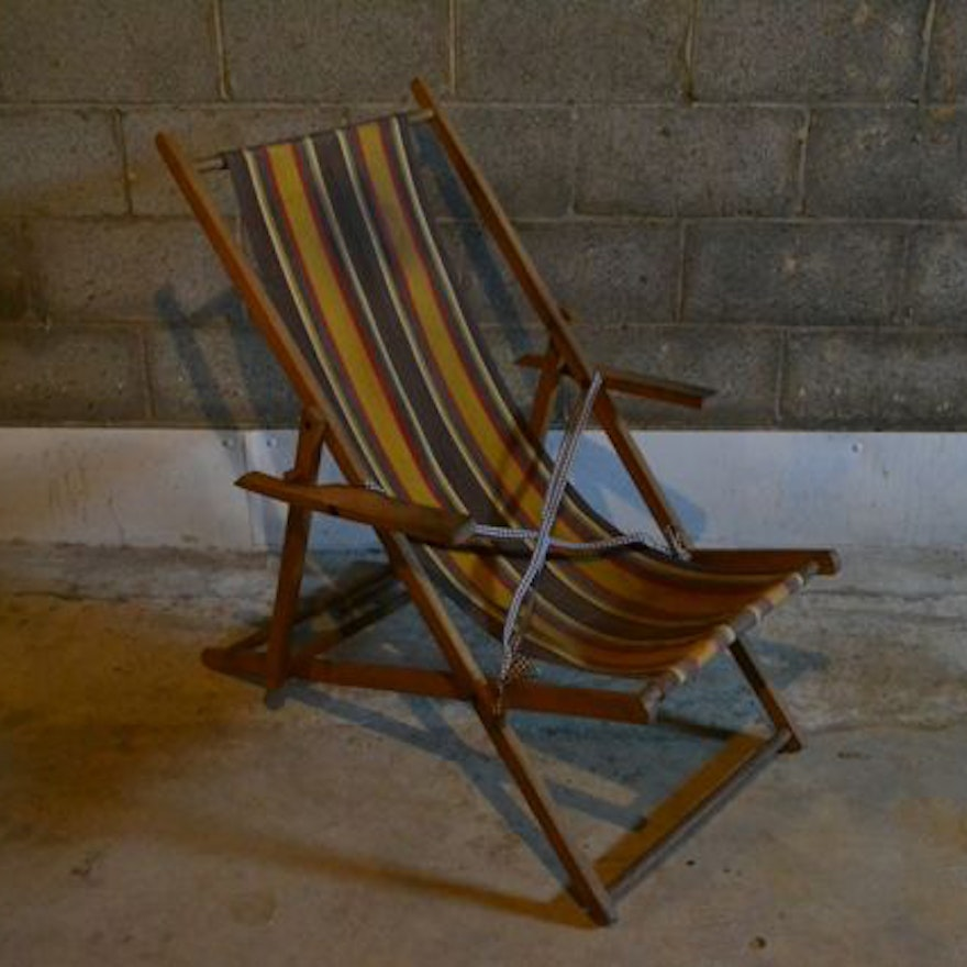 Vintage Folding Beach Chair