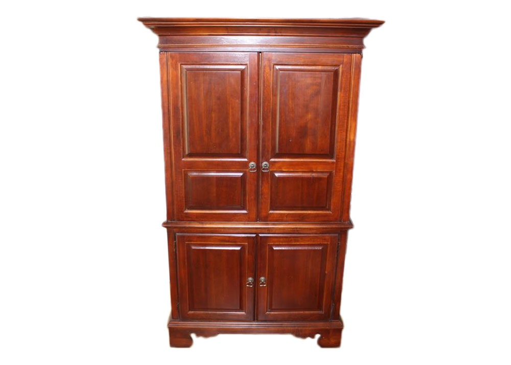 Beau Broyhill Armoire Entertainment Center With Illuminated Cabinet ...