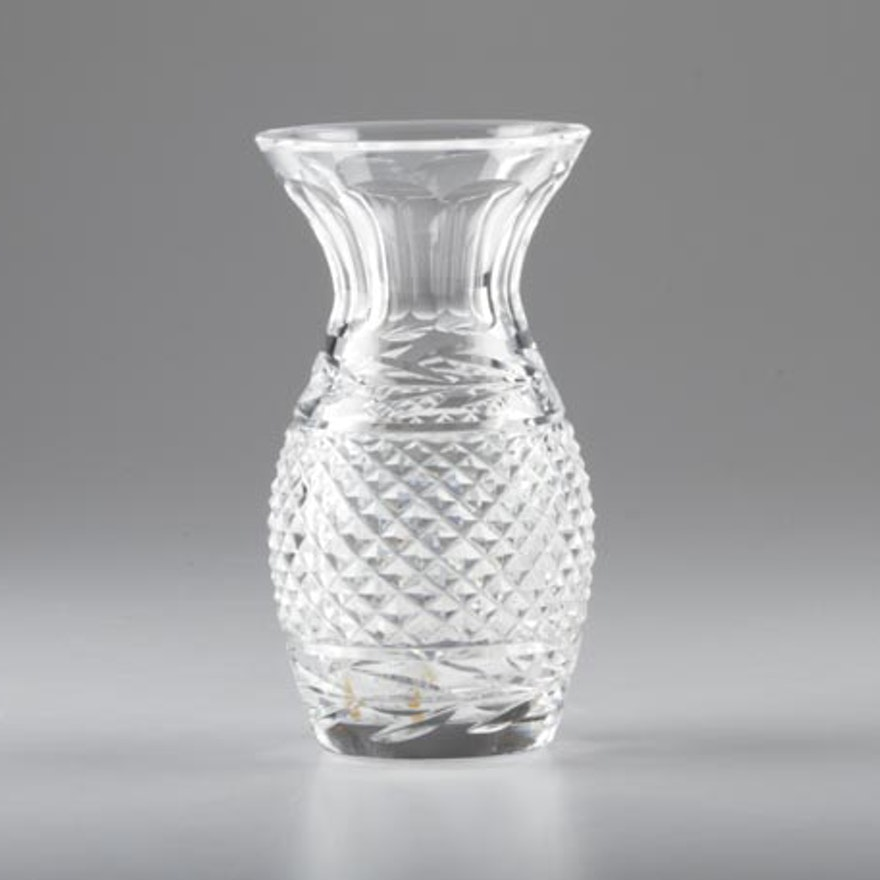 Waterford Crystal Pineapple Glandore Vase Ebth