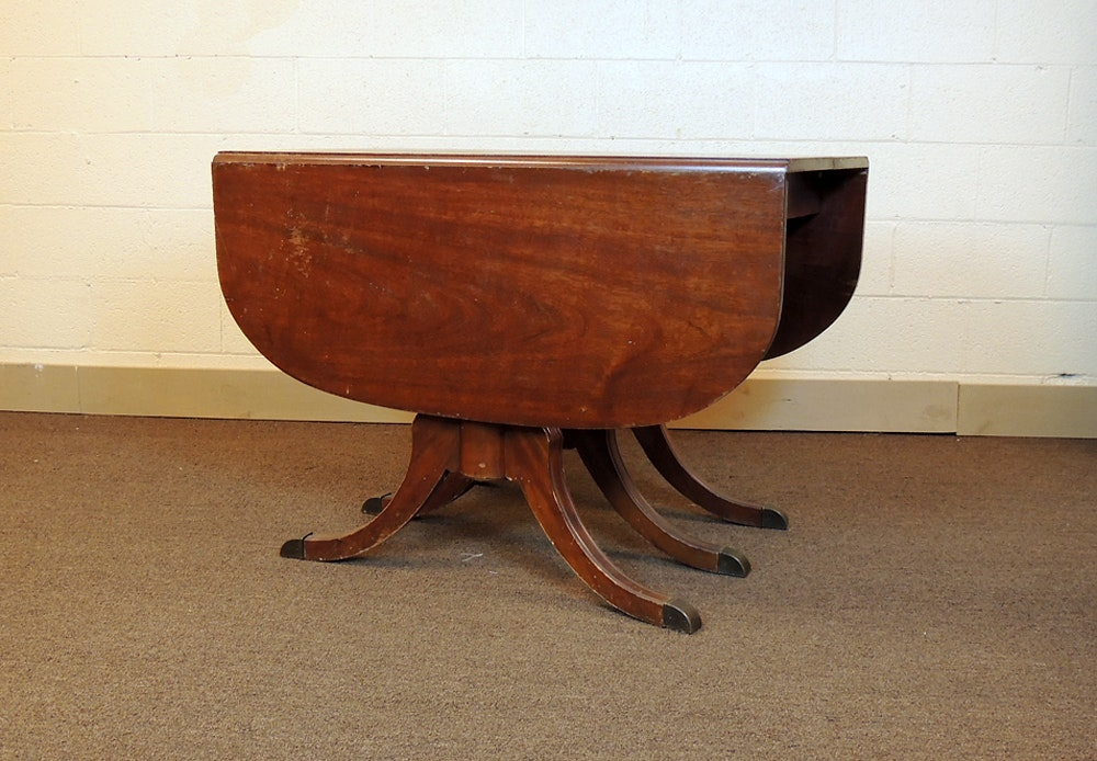 Duncan Phyfe Drop Leaf Mahogany Dining Table ...