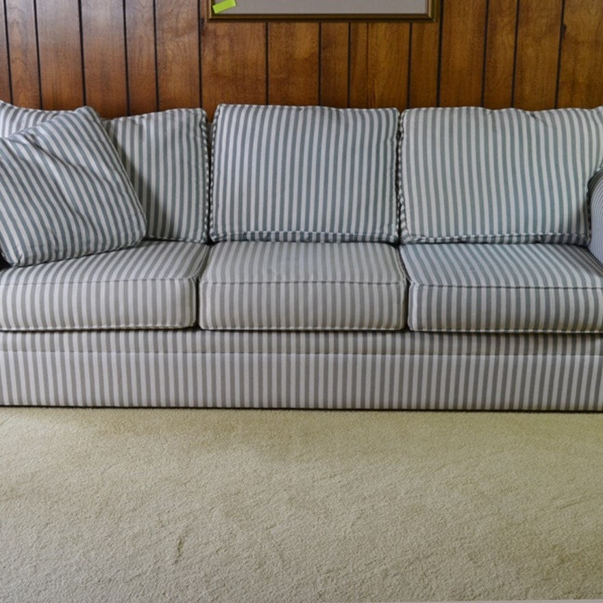 Contemporary Ticking Stripe Sofa 1 By Bauhaus