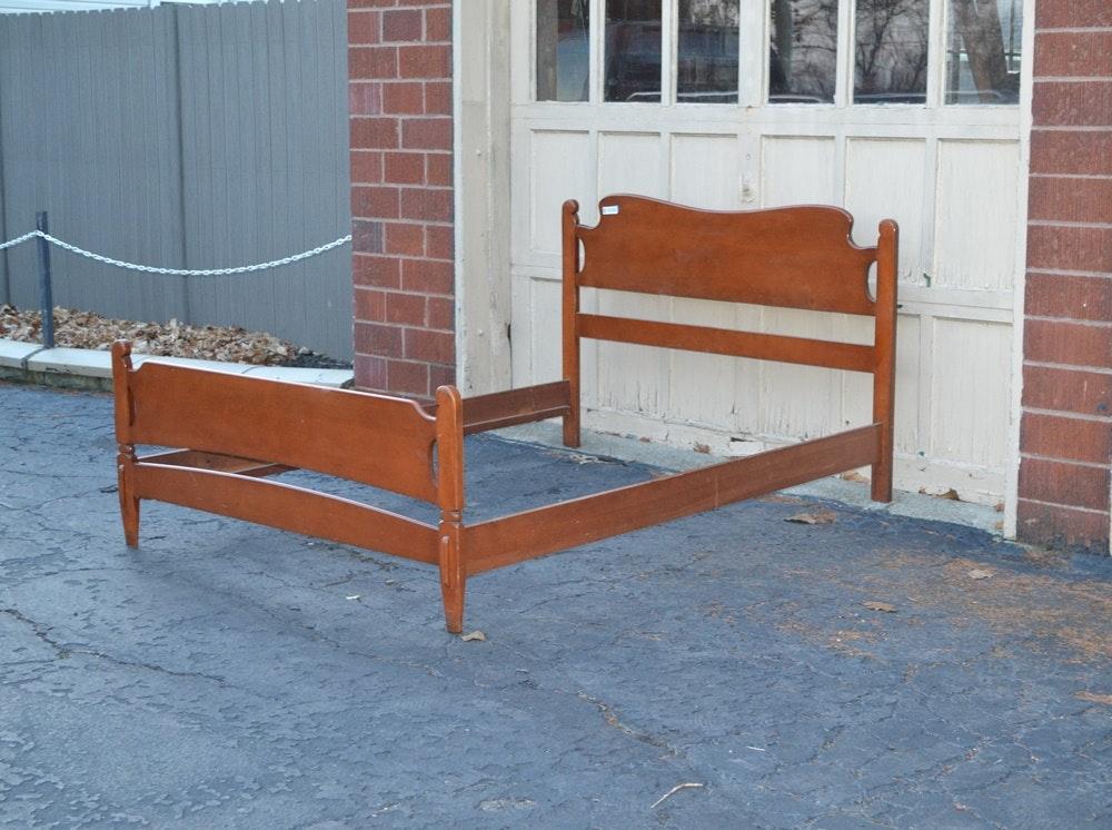 Vintage Maple Headboard Footboard Amp Side Rails For Full