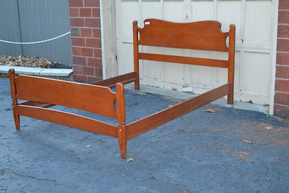 Vintage Maple Headboard Footboard Amp Side Rails For Full