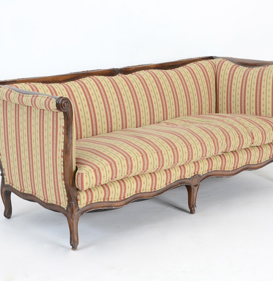 French canape sofa by yale r burge ebth for French canape sofa