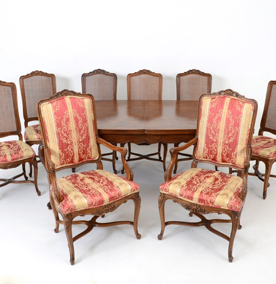 John Widdicomb Dining Table And Chairs