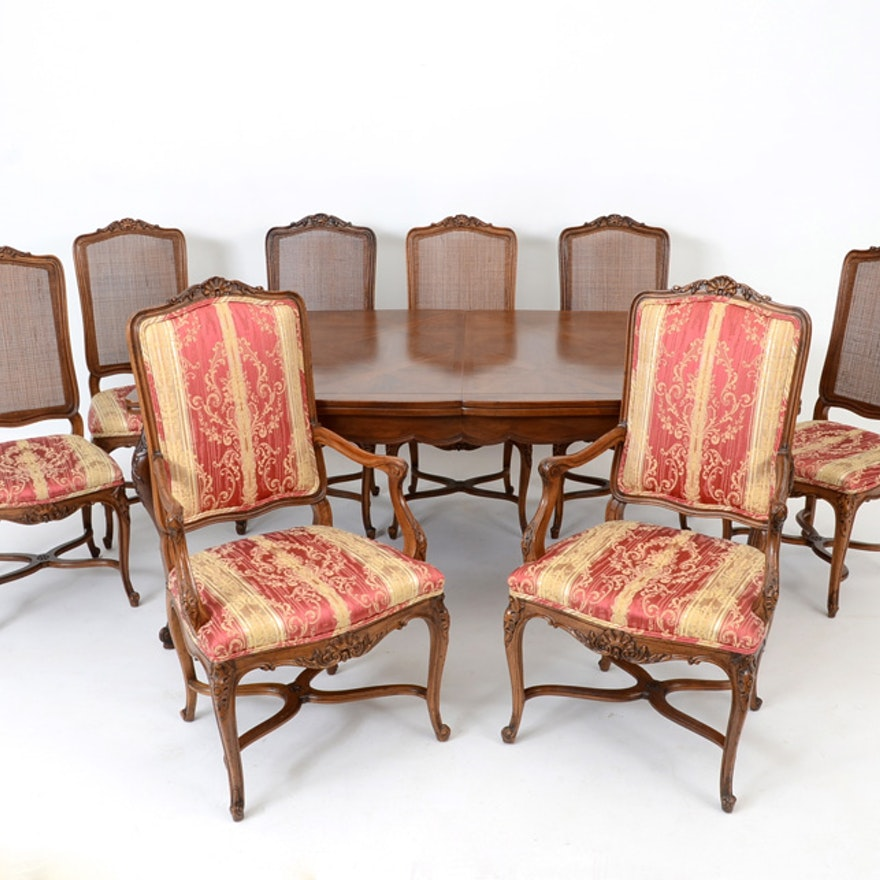 John Widdicomb Dining Table And Chairs Ebth
