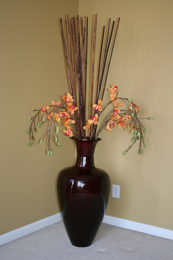 large vase with bamboo sticks with 1778322 Large Decorative Vase With Bamboo Sticks And Silk Orchids on Metal Cemetery Flower Vases Amazing Handcrafted Headstone Vases Flattened Recycled Decorative Peacock Hanging Steel Tropical Artwork Vaseline Glass Juicer also 15 Clever Artificial Flowers Placement Ideas For Apartment Decoration furthermore 41165784074434168 besides 15 Clever Artificial Flowers Placement Ideas For Apartment Decoration additionally 19 Ideas Decorative Bamboo Poles.