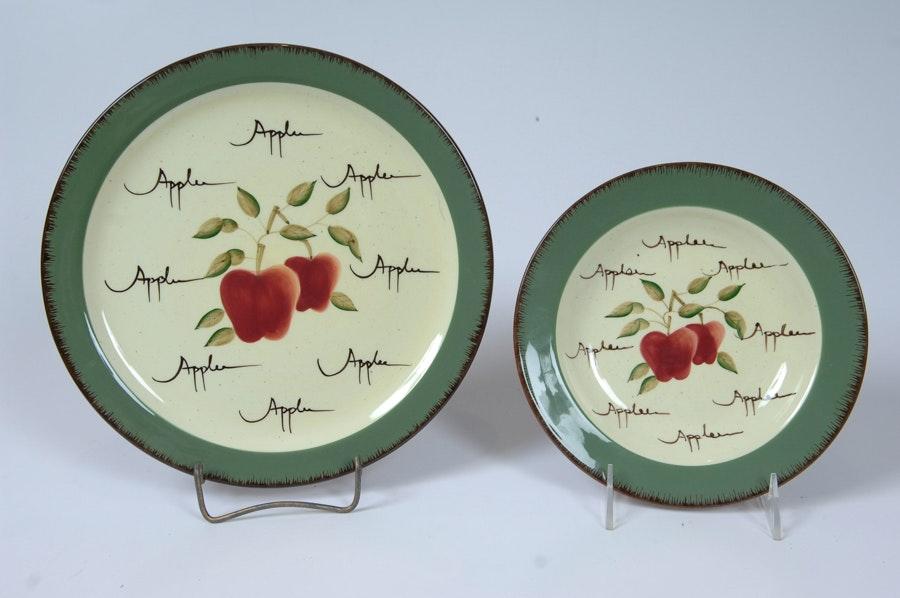home interiors apple orchard tea set ebth