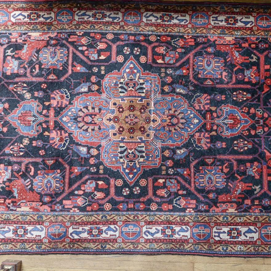 Persian Hand Woven Bakhtiari Style Wool Area Rug Ebth: Ghandi Oriental Rug : EBTH