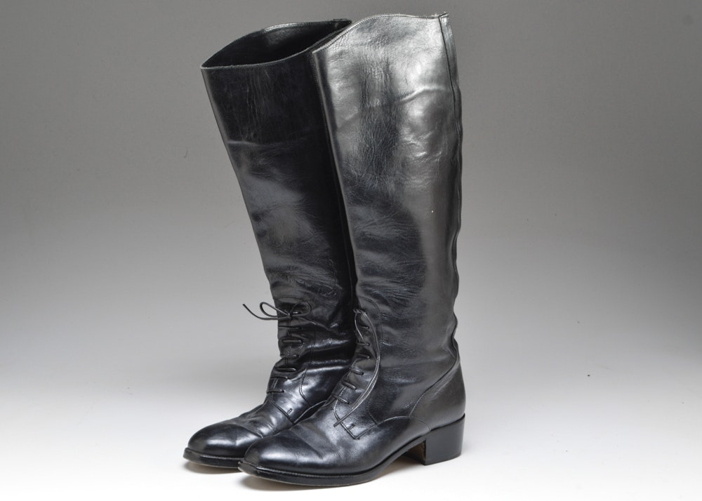 s italian black leather boots ebth