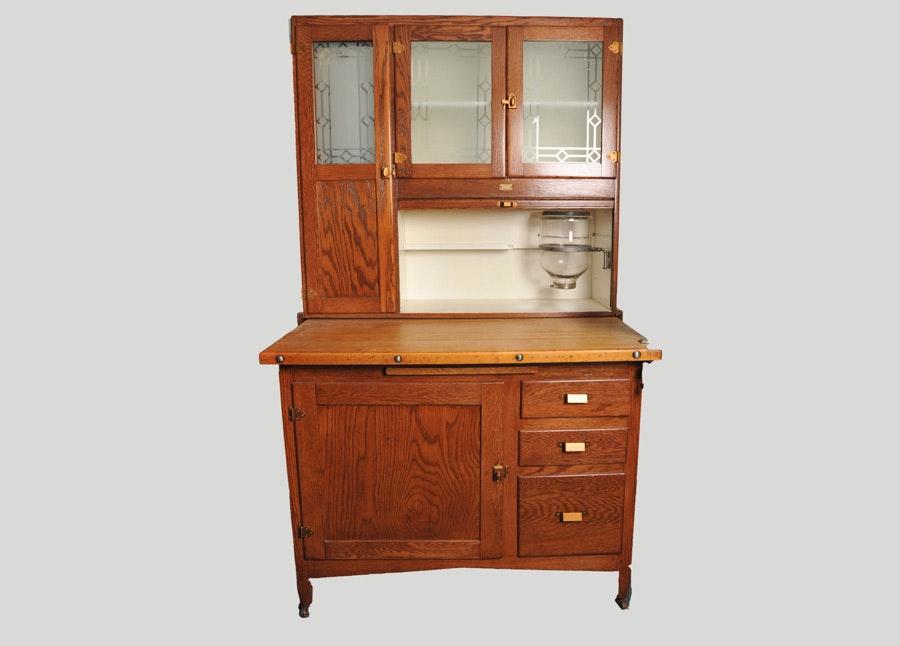 Sellers Kitchen Cabinet: Sellers Kitchen Cabinet In Golden Oak Finish : EBTH