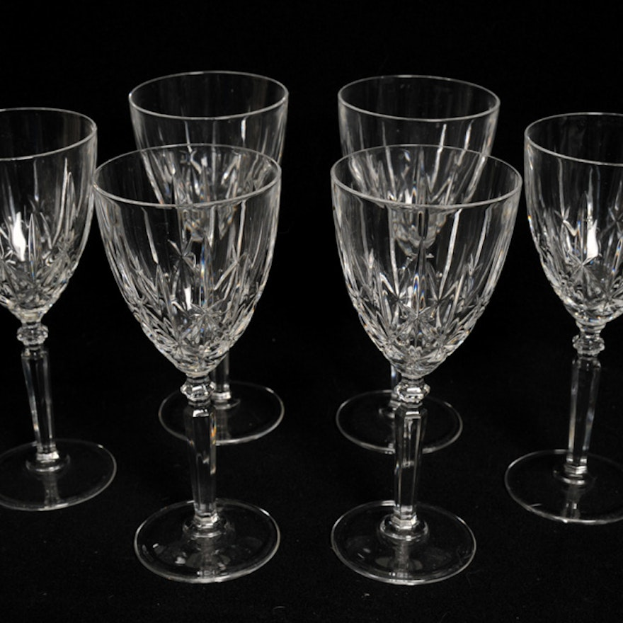Carpri Cut Crystal Italian Wine Glasses In The Orchestra Pattern Ebth