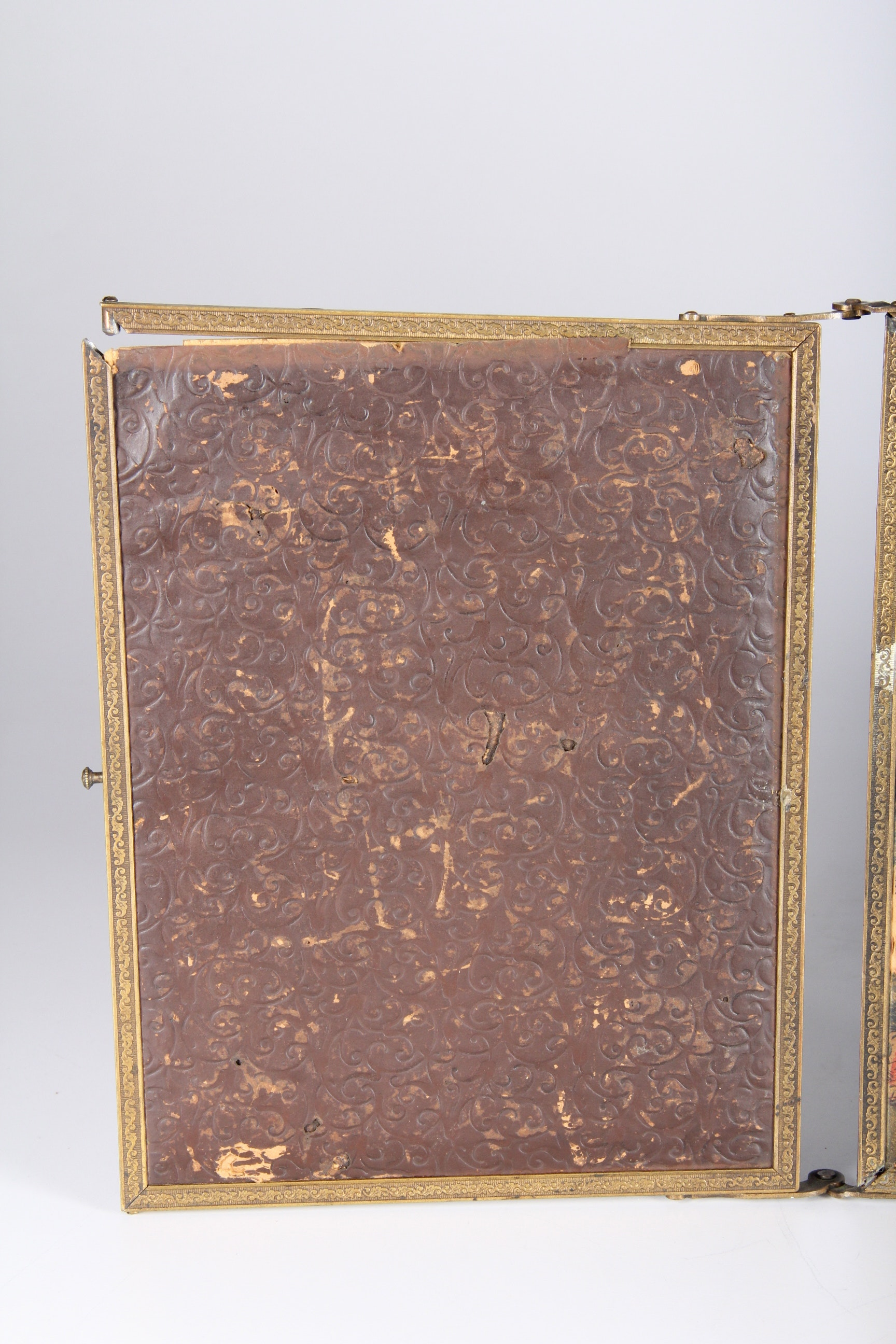 Antique Tri Fold Dressing Table Mirror Ebth