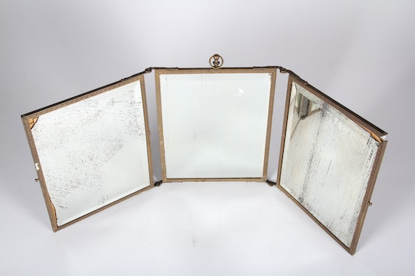 Antique Tri Fold Dressing Table Mirror Ebth