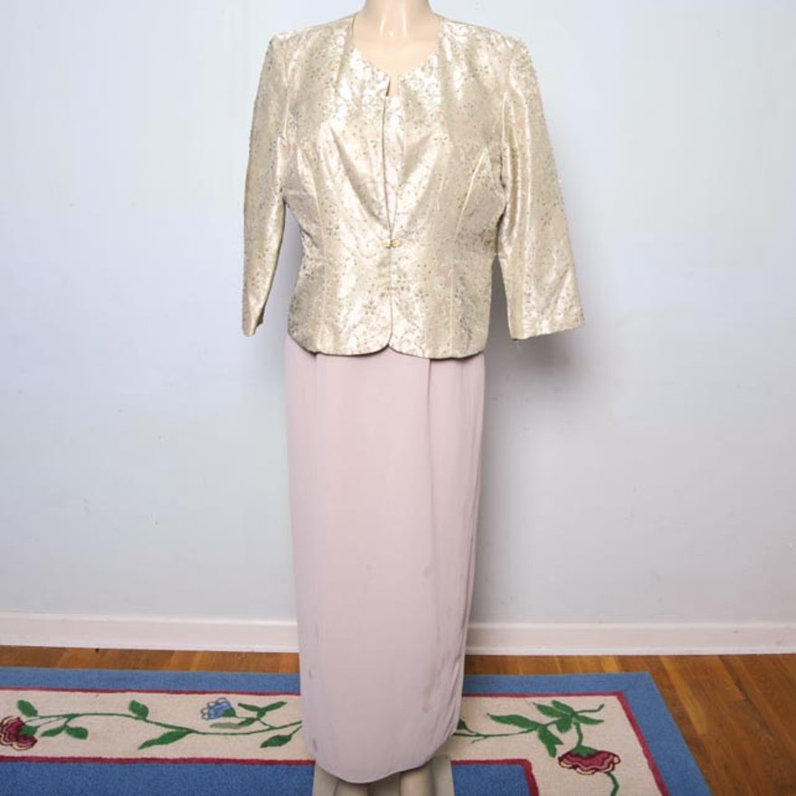 62acfacb95 R   M Richards Formal Evening Gown or Mother of the Bride Dress