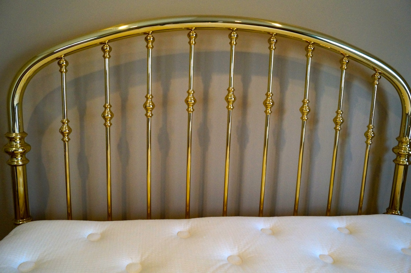 Charles P Rogers Queen Size Brass Rainbow Bed With