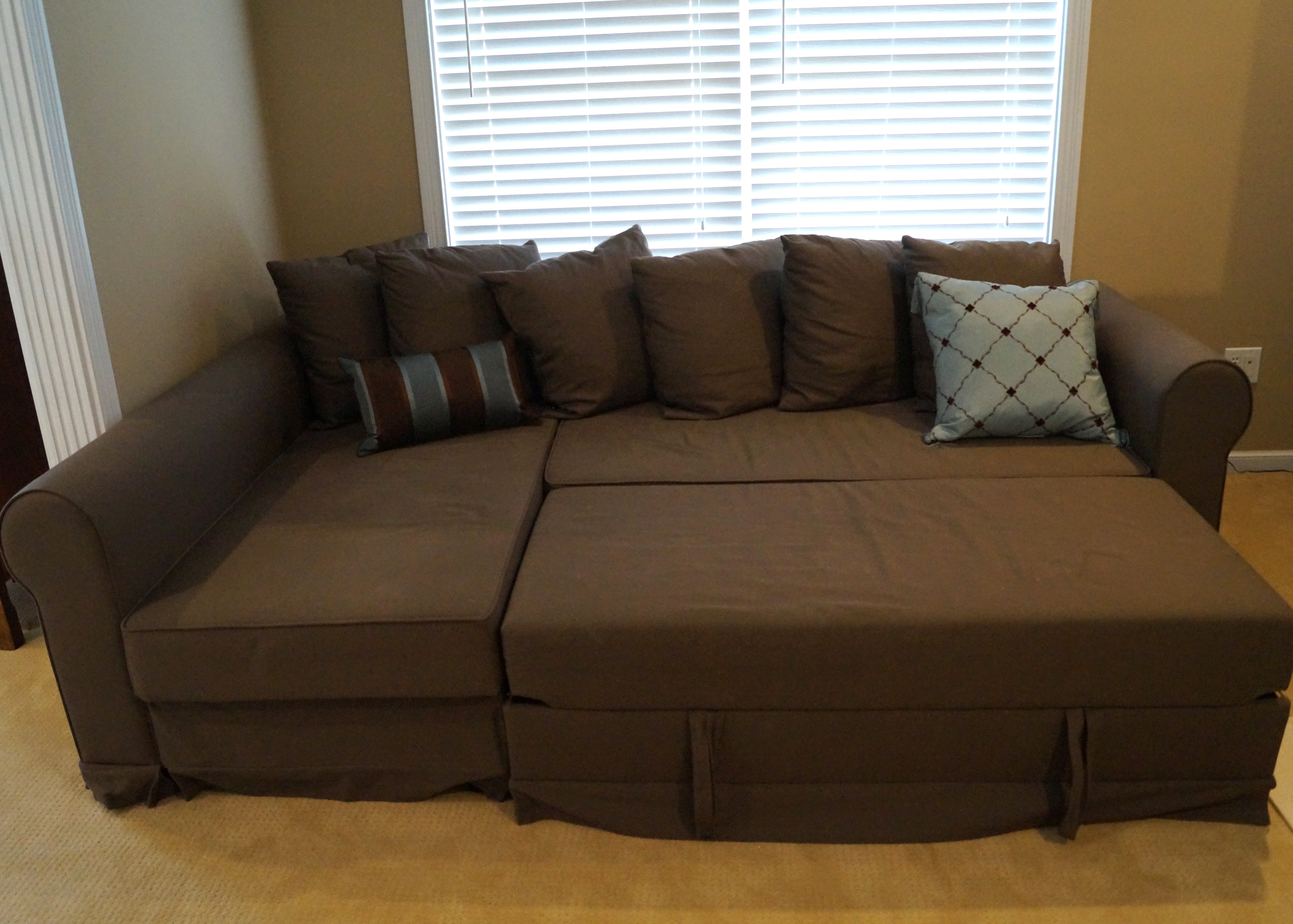 IKEA Moheda Corner Storage Sofa Bed With Pull Out Ottoman ...