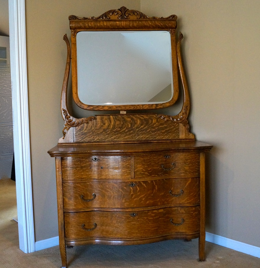 Best And Company Furniture: Antique Serpentine Dresser
