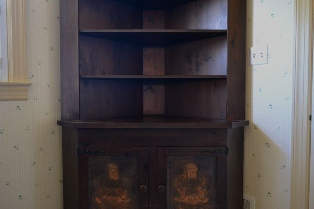 Corner Cabinet With Punched Tin Doors ...