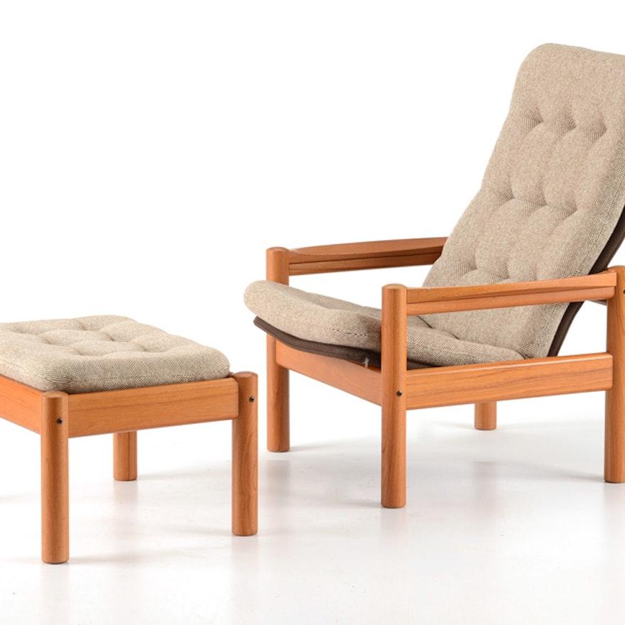 Domino Mobler Teak Chair And Ottoman Ebth