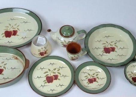 home interiors apple orchard tea set ebth home interiors apple orchard ebay