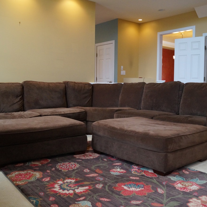 Marvelous Benchcraft Sectional Sofa With Two Ottomans Uwap Interior Chair Design Uwaporg