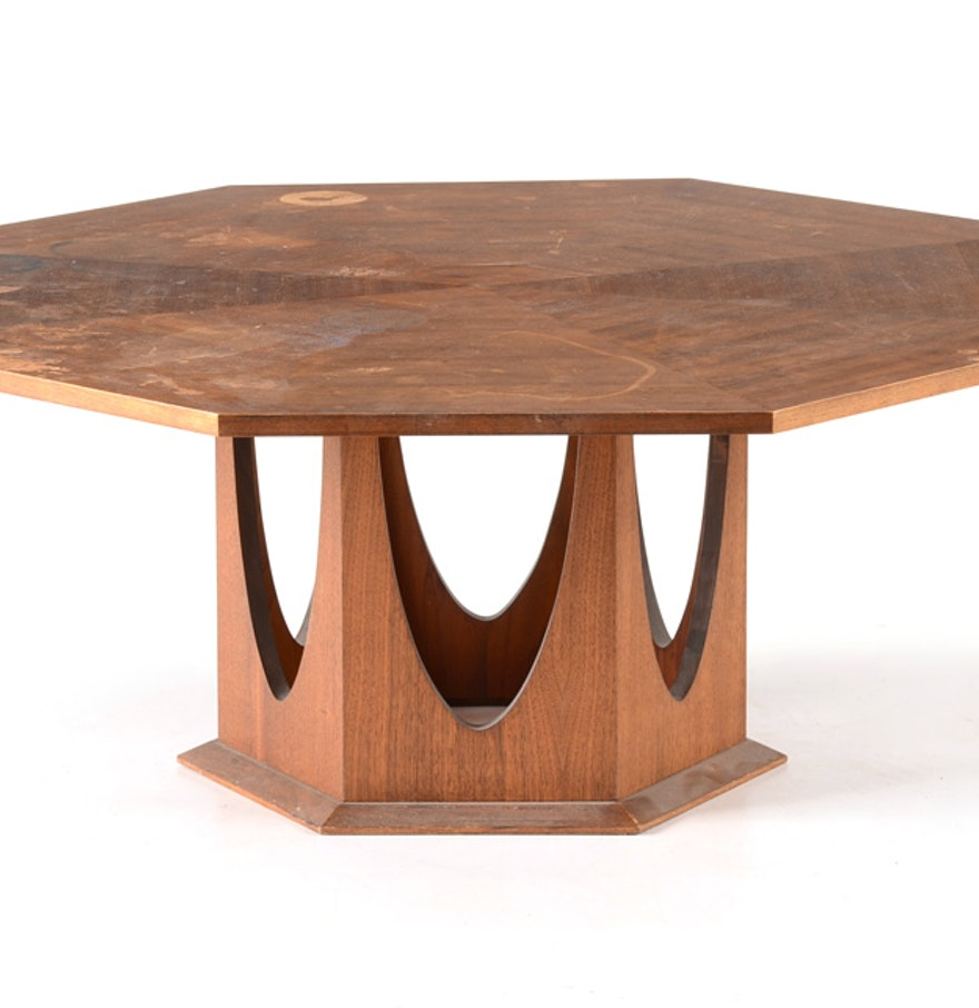 mid century octagonal coffee table ebth