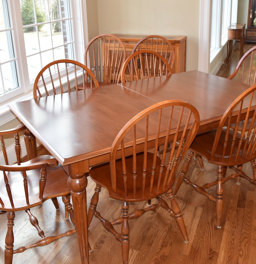 Ethan Allen Dining Room Sets: Ethan Allen Windsor Dining Room Set : EBTH