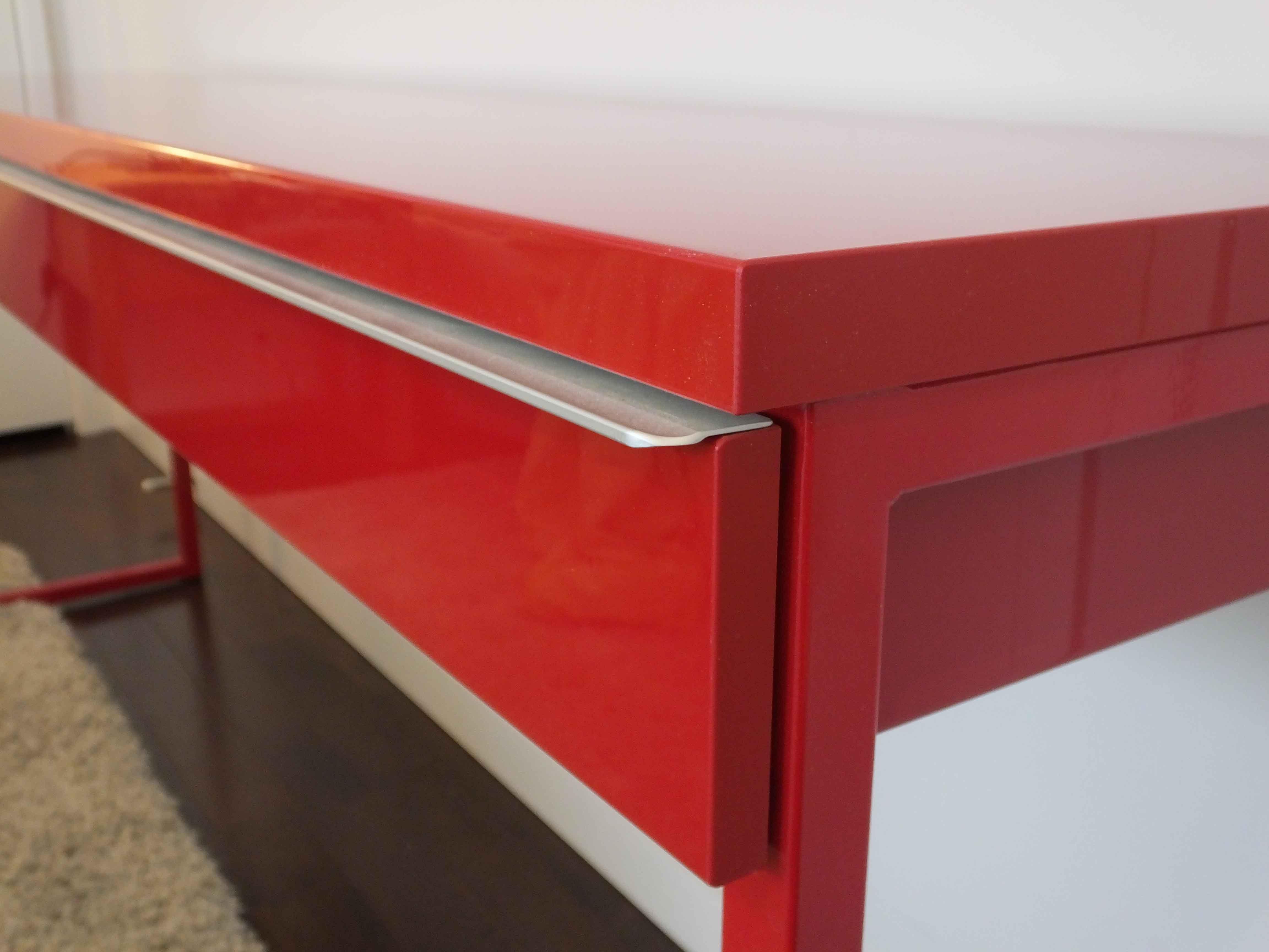 Ikea Quot Besta Burs Quot Polished Metal Desk Ebth