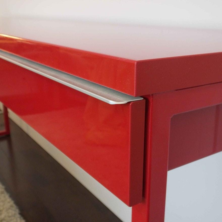 ikea besta burs polished metal desk ebth. Black Bedroom Furniture Sets. Home Design Ideas