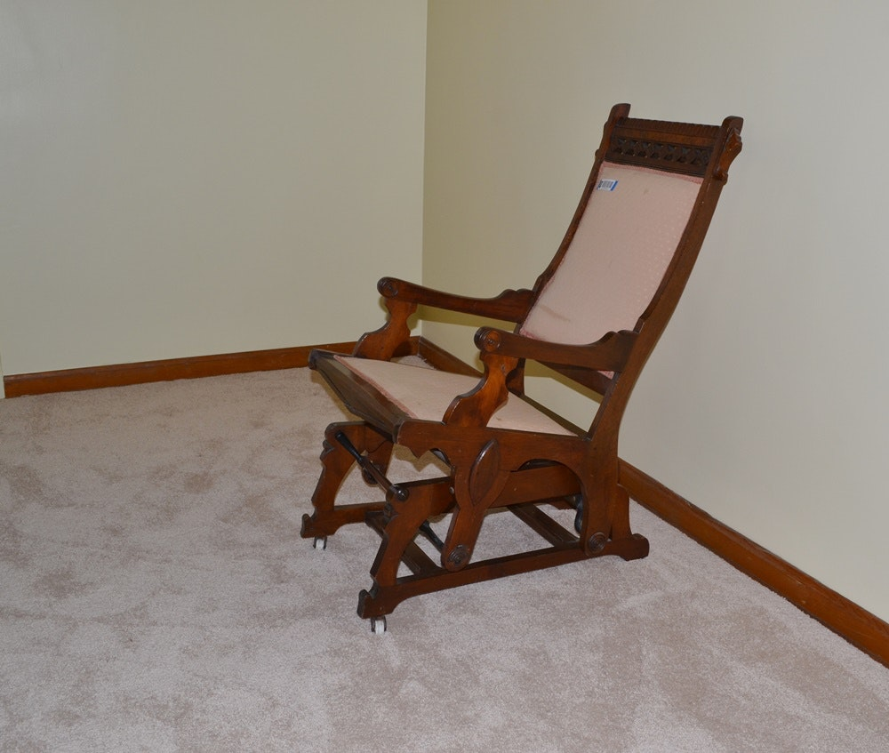 late victorian era eastlake style glider rocking chair - Gliding Rocking Chair