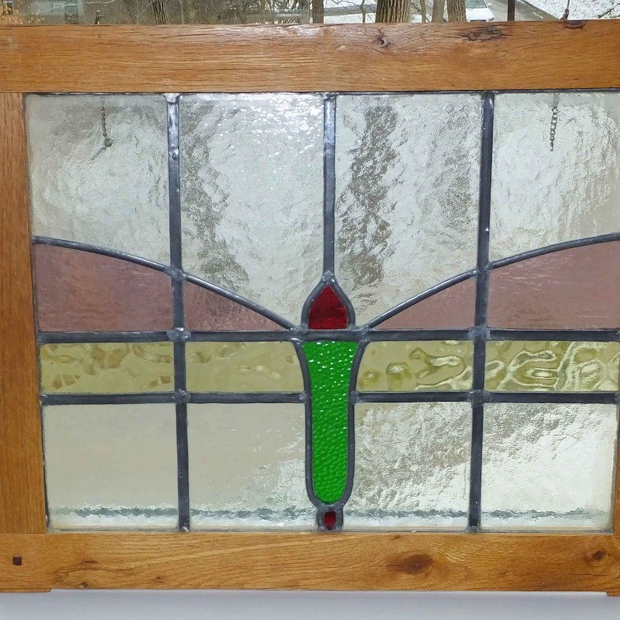Framed Stained Glass Art Piece from Asheville North Carolina, #2 : EBTH