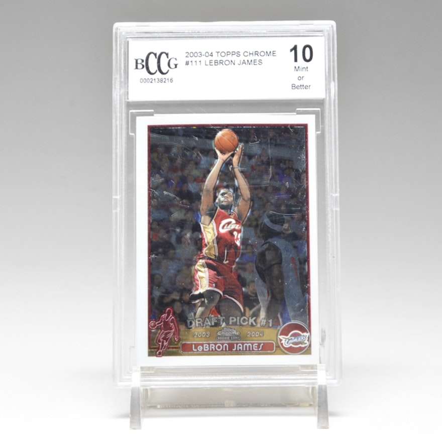 2003 2004 Lebron James Topps Rookie Card Graded 10