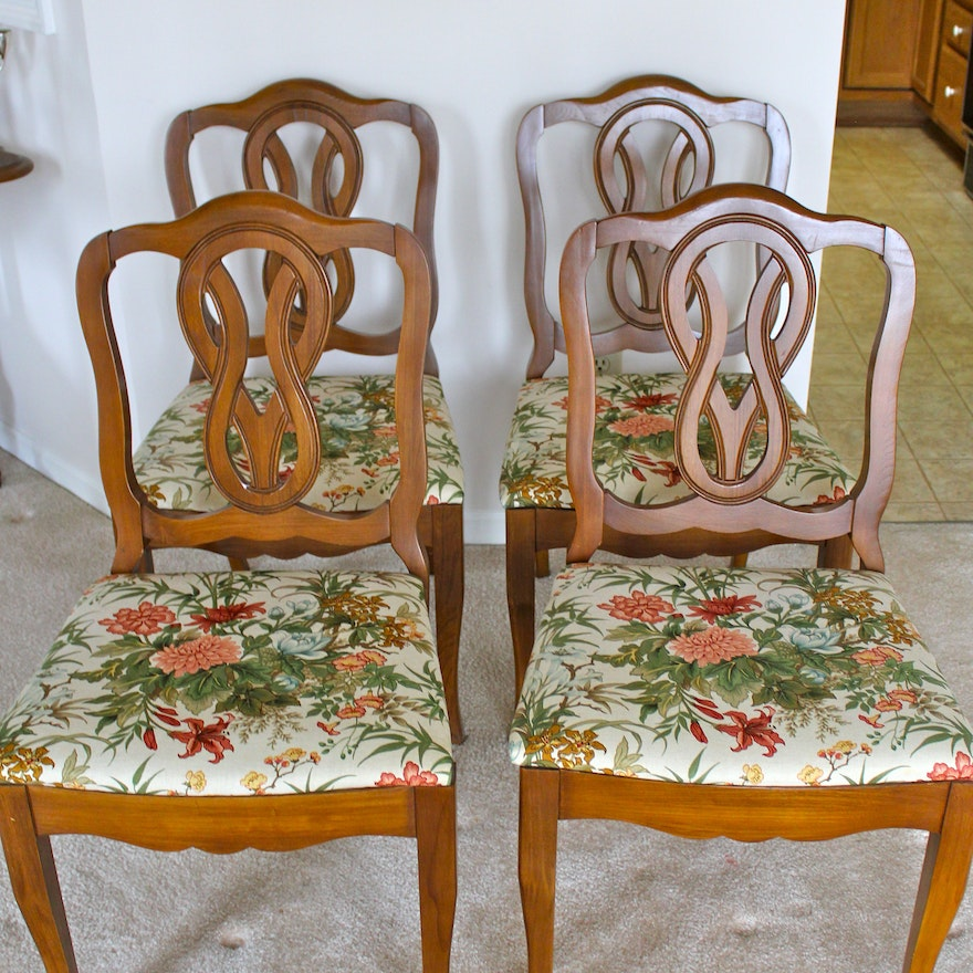 Set Of Four French Provincial Style Dining Room Chairs