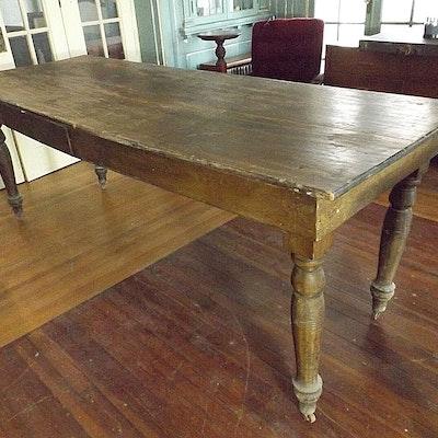 Antique Primitive Farmhouse Table - Vintage Tables, Antique Tables And Retro Tables Auction In North