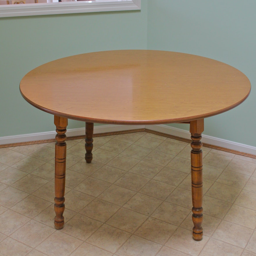 Round Spindle Leg Dining Table