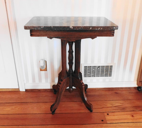 Antique Marble Side Table Reading: Antique Eastlake Side Table With Marble Top : EBTH