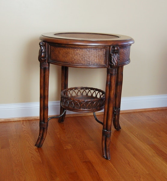 Seven Seas Collection Rattan Accent Table By Hooker Furniture ...