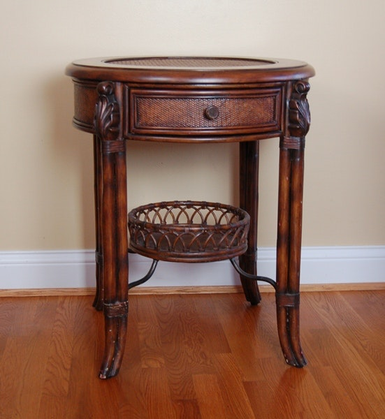 Seven Seas Collection Rattan Accent Table by Hooker