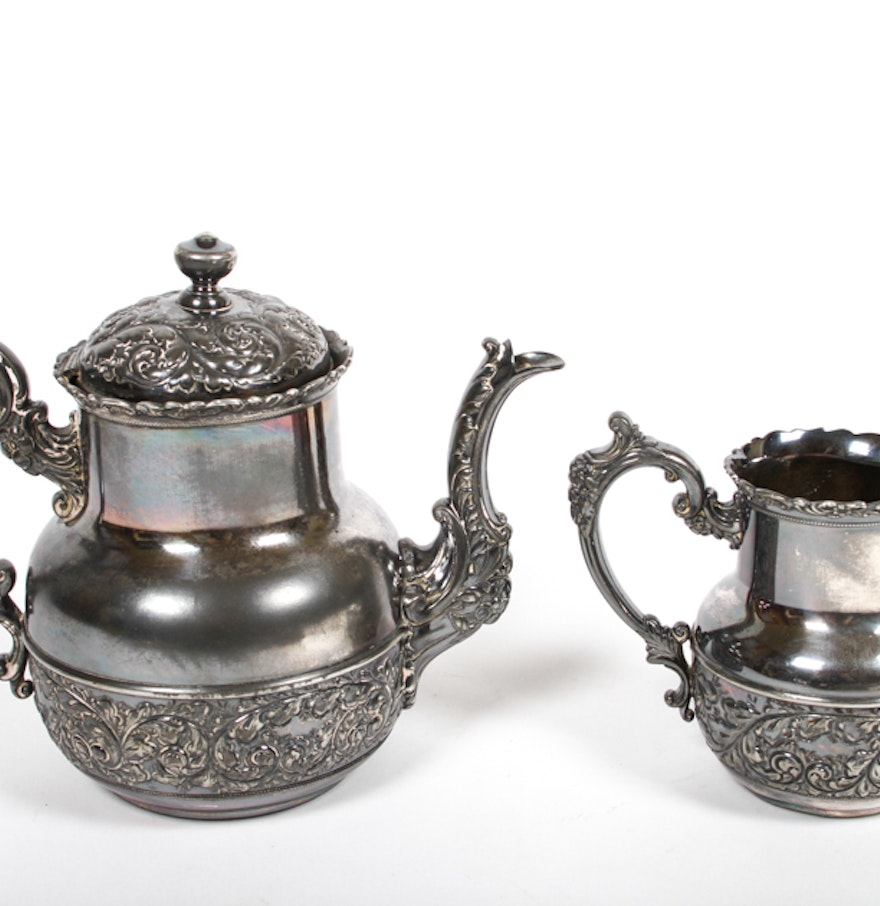 Derby Silver Co Teapot Antique Derby Silver Co Quadruple