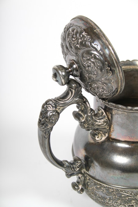 Antique 1892 Derby Silver Co Silver Plate Teapot And